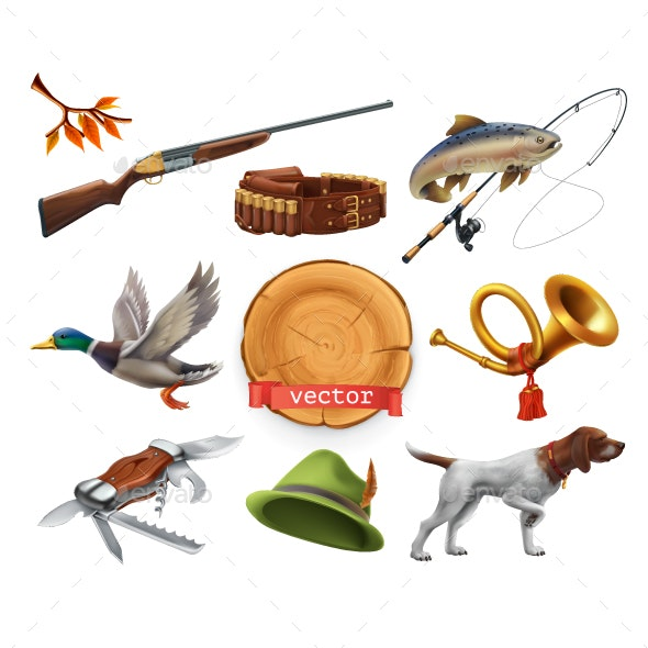 Hunting Set - Miscellaneous Vectors