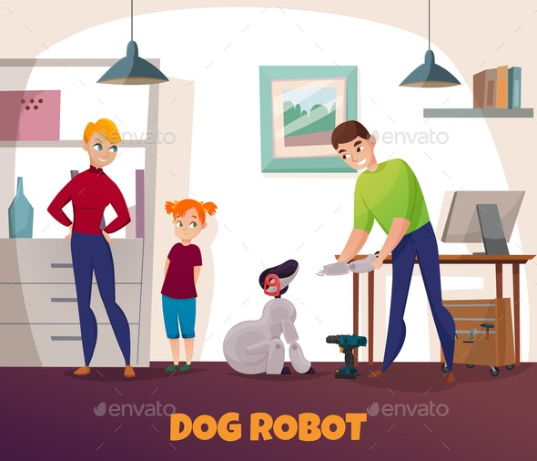 Dog Robot Repair - People Characters