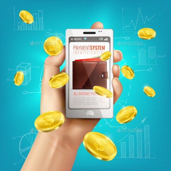 Mobile Banking Wallet Background