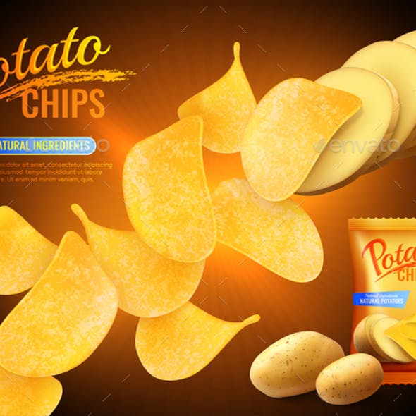 Potato Chips Advertising Background
