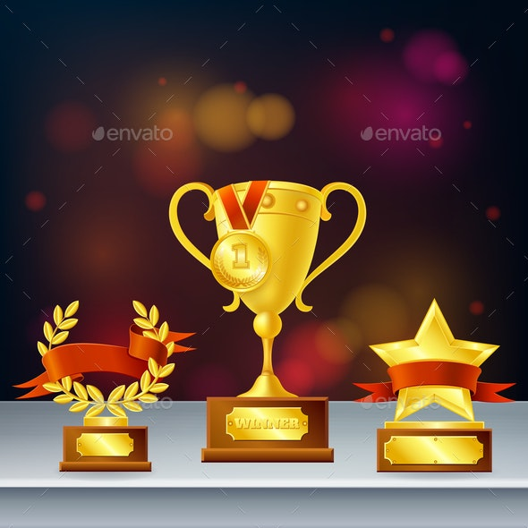 Awards Realistic Composition - Backgrounds Decorative