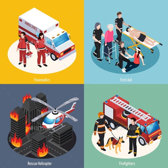 Rescue Team 2x2 Design Concept - People Characters