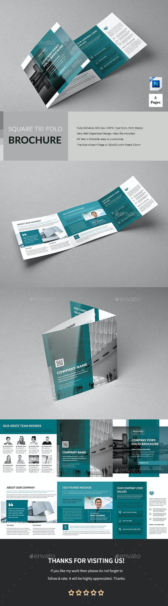 Corporate Square Trifold Brochure - Corporate Brochures