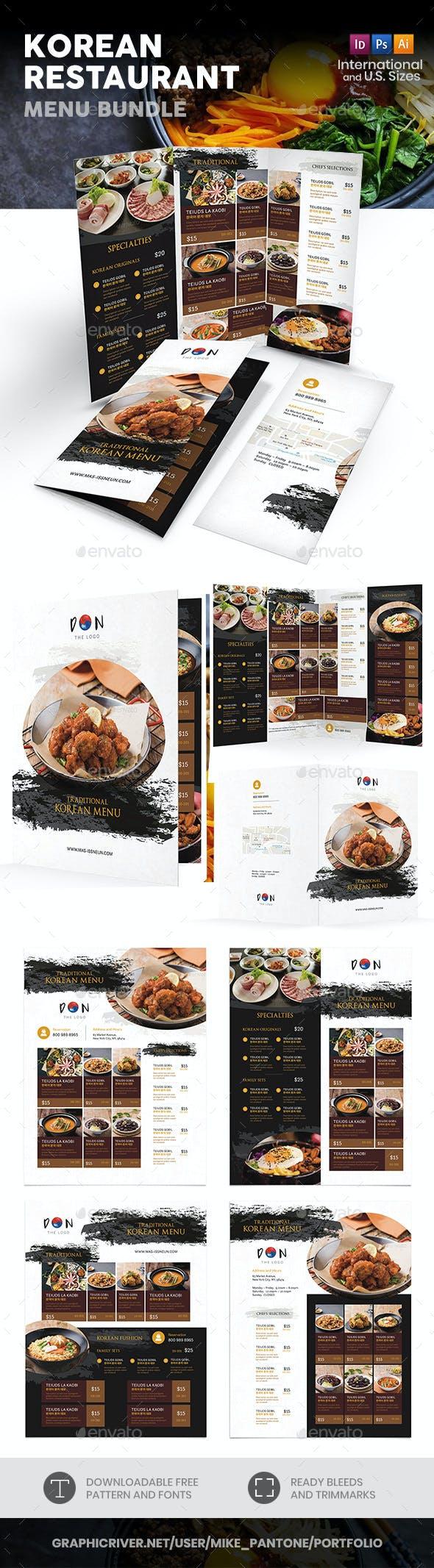 Korean Menu Print Bundle 2