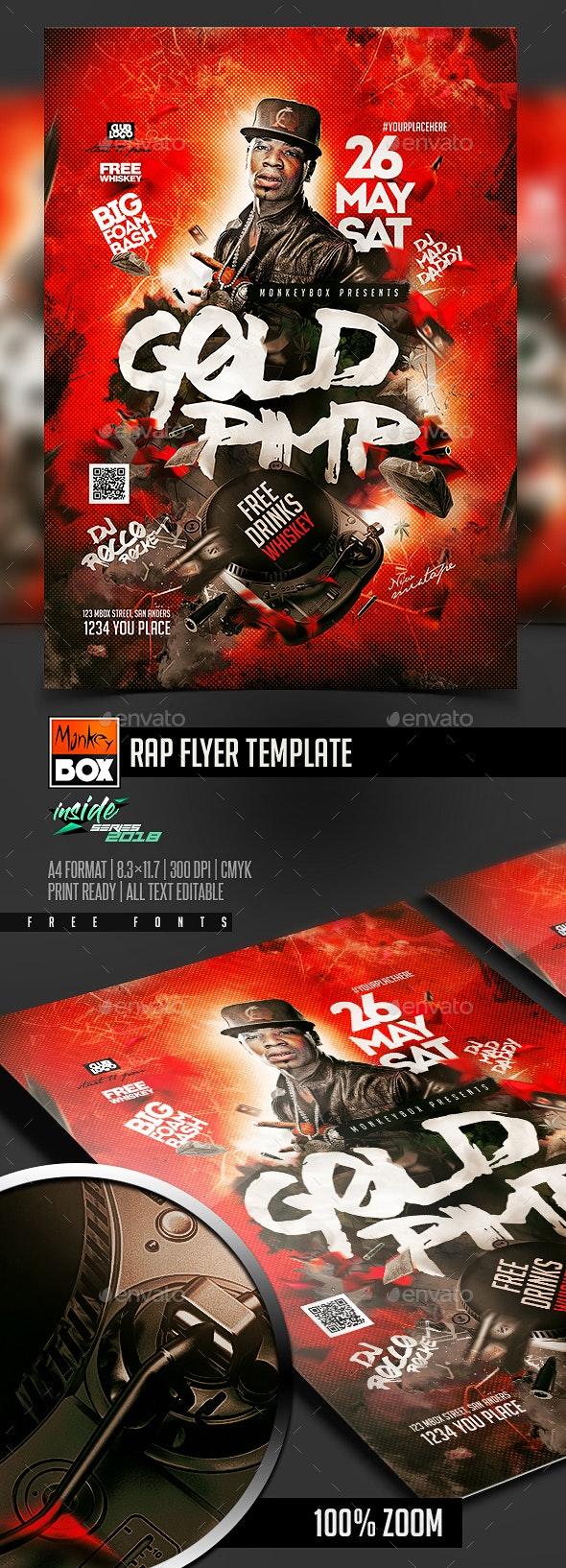 Rap Flyer Template - Clubs & Parties Events