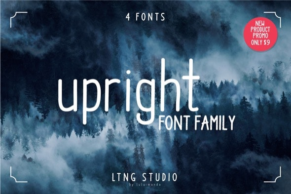 Upright Font Family - Hand-writing Script