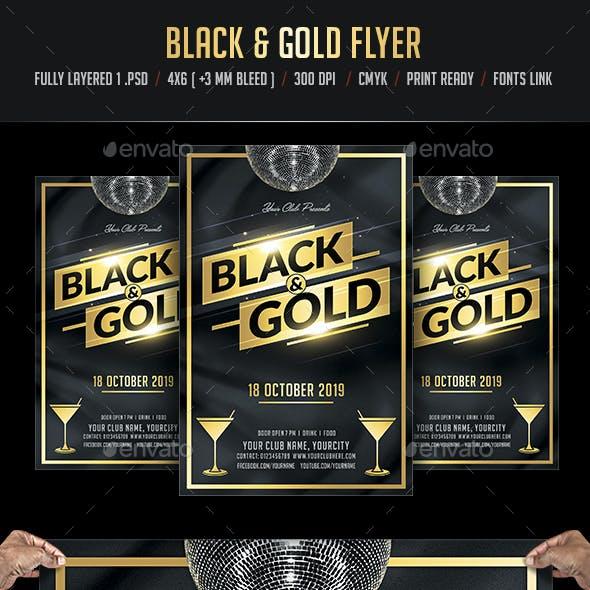 Black & Gold Flyer