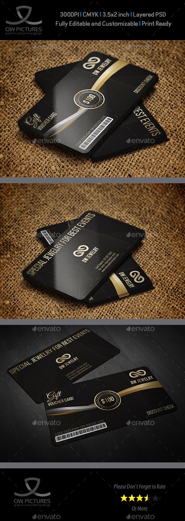 Gift Voucher Card Template Vol.27 - Cards & Invites Print Templates