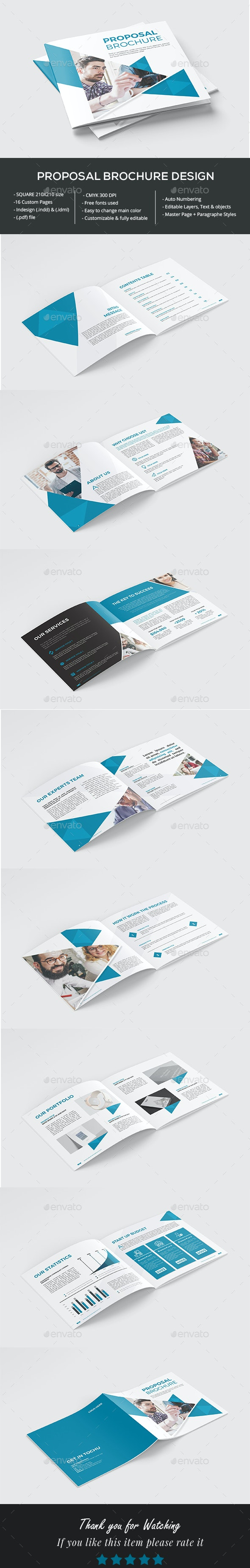 Proposal Brochure - Brochures Print Templates