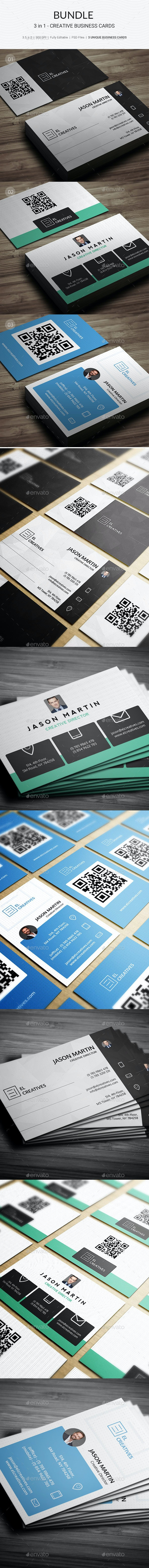 Bundle - 3 in 1 - Prime Creative Business Cards - 178 - Creative Business Cards