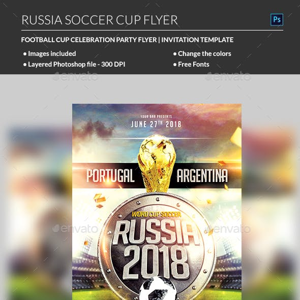 Russia World Cup Soccer Flyer