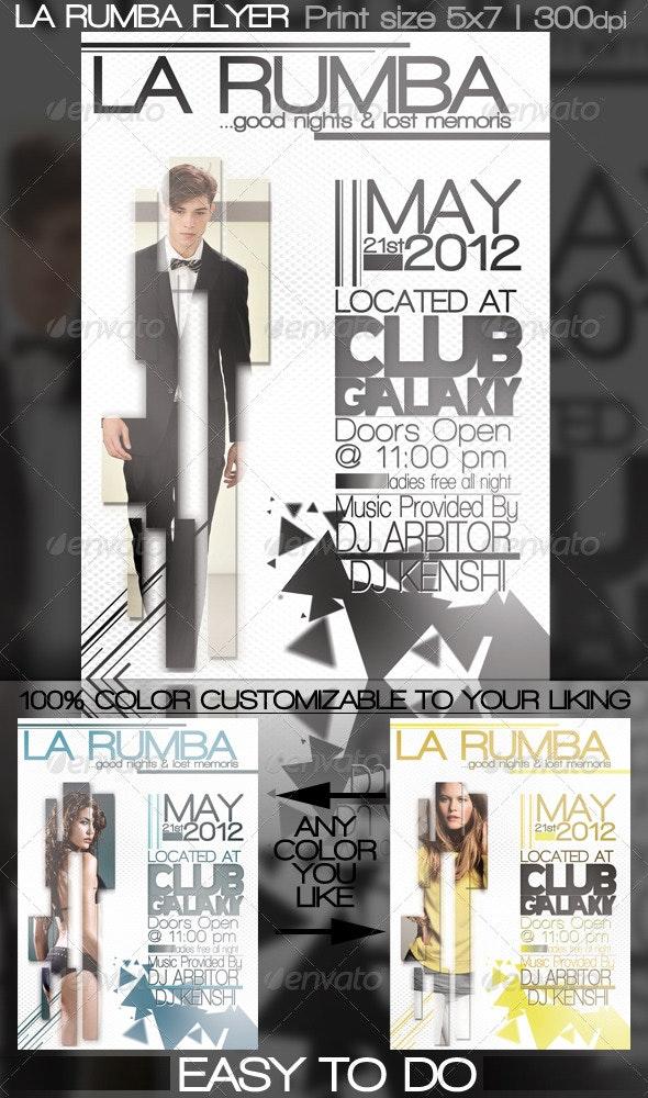 La Rumba Flyer - Clubs & Parties Events