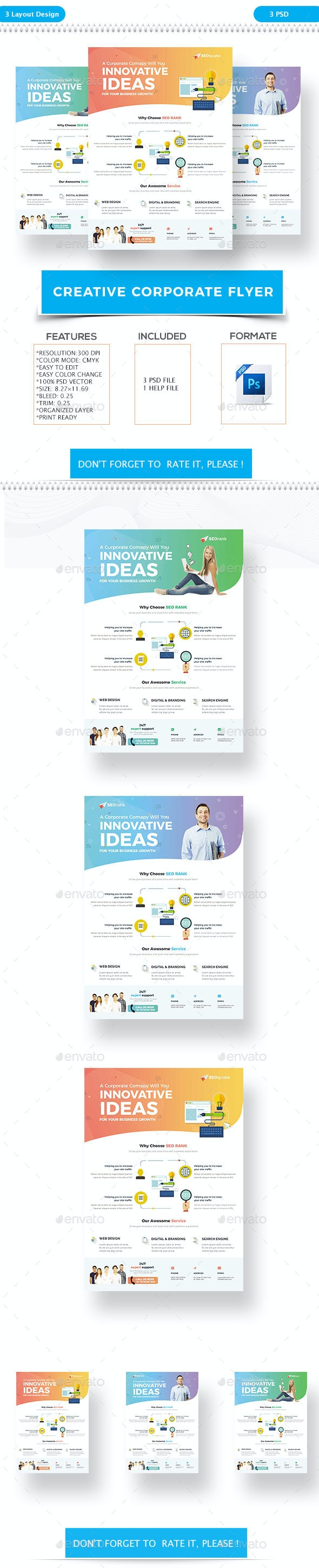 Creative Corporate Flyer - Flyers Print Templates