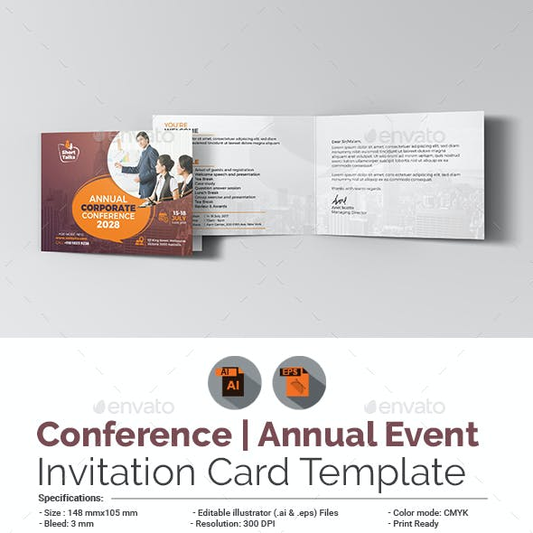 Agm Card Designs Invite Templates From Graphicriver