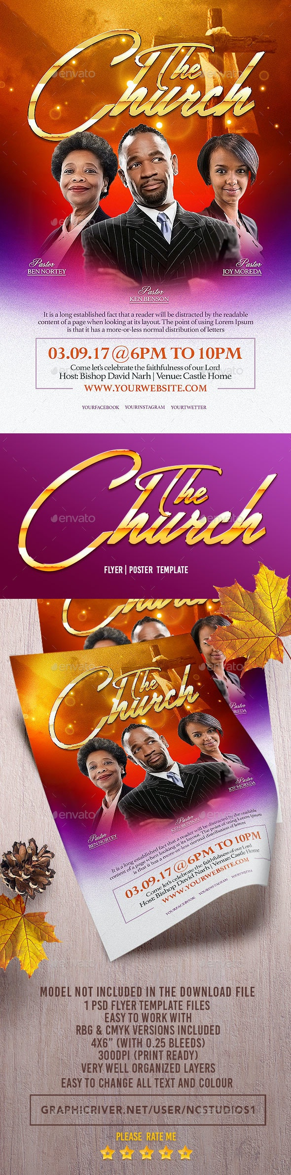 The Church Flyer Template - Flyers Print Templates