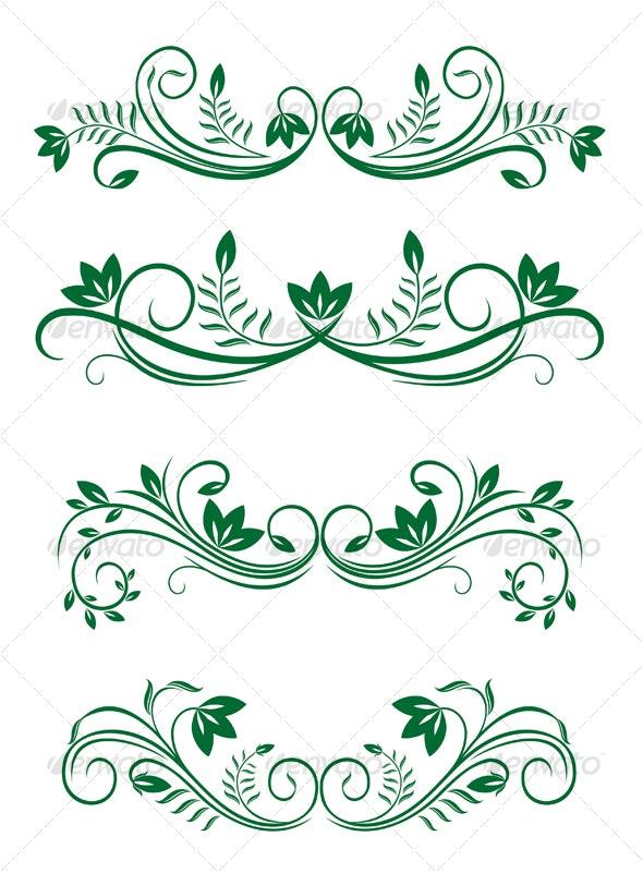Flourishes elements - Decorative Vectors