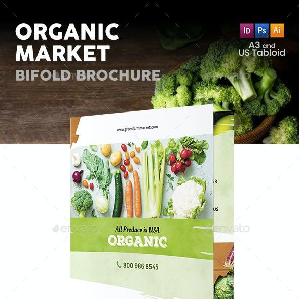 Organic Market Bifold / Halffold Brochure 3