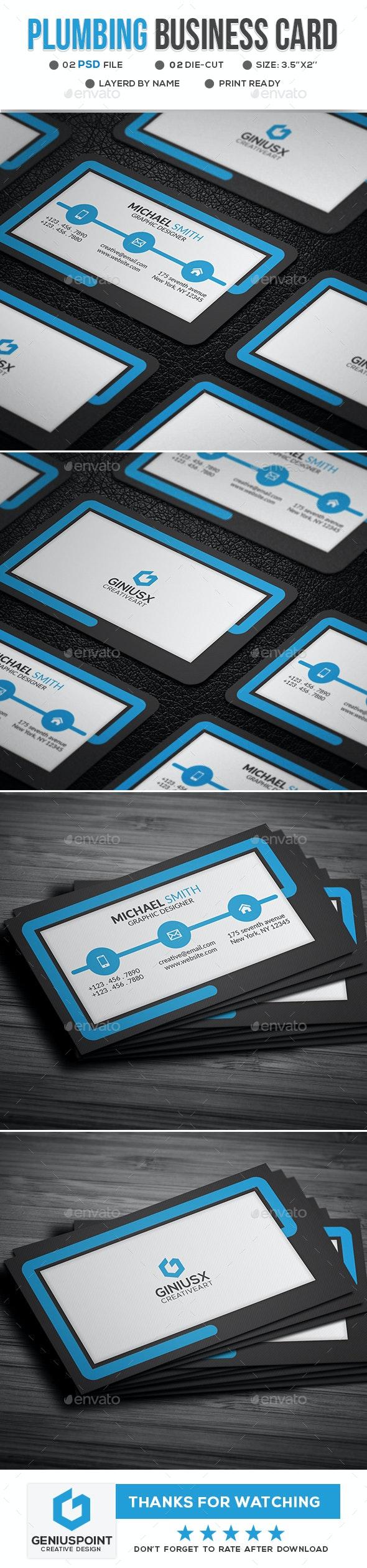 Plumbing Business Card - Business Cards Print Templates
