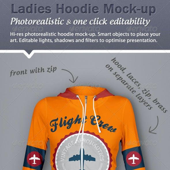 Hoodie Mock-Up - Ladies Version