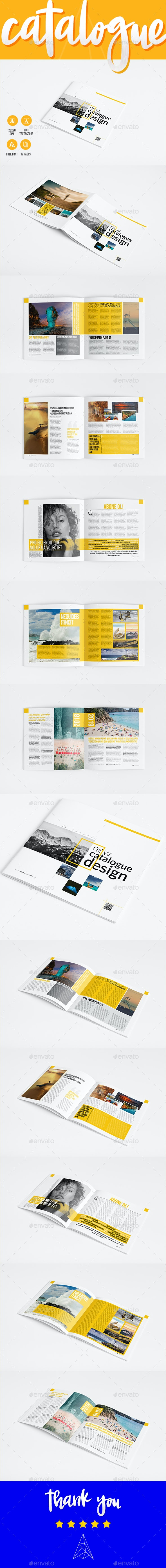 New Catalogue Template 12 Pages - Catalogs Brochures
