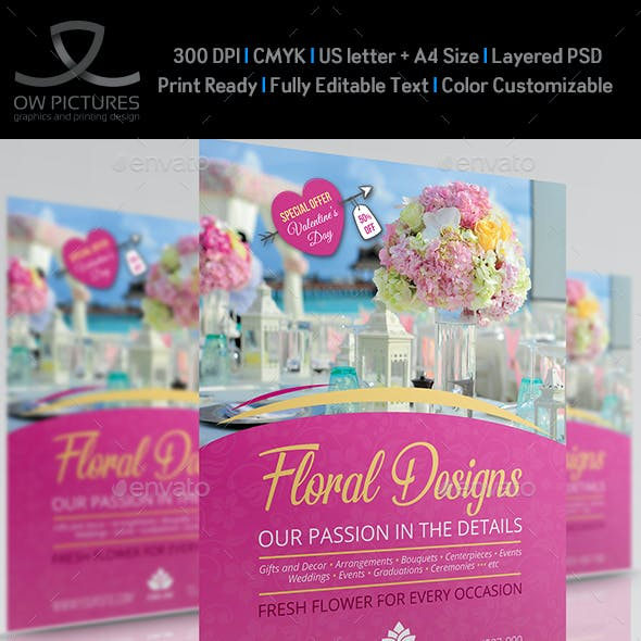 Floral Designs Flyer Template