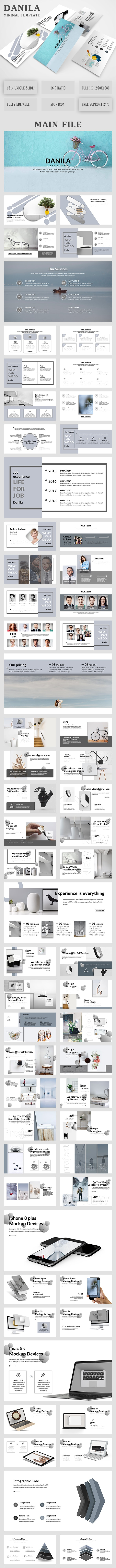 Danila Minimal Keynote Template - Creative Keynote Templates
