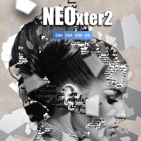 NEOxter2 Broken Mirrors Photoshop Action