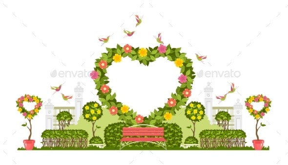 Wedding Arch Vector - Flowers & Plants Nature