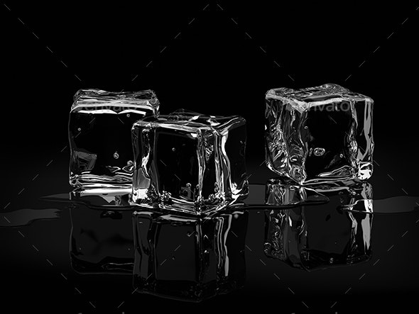 Ice Cubes - 3D Backgrounds