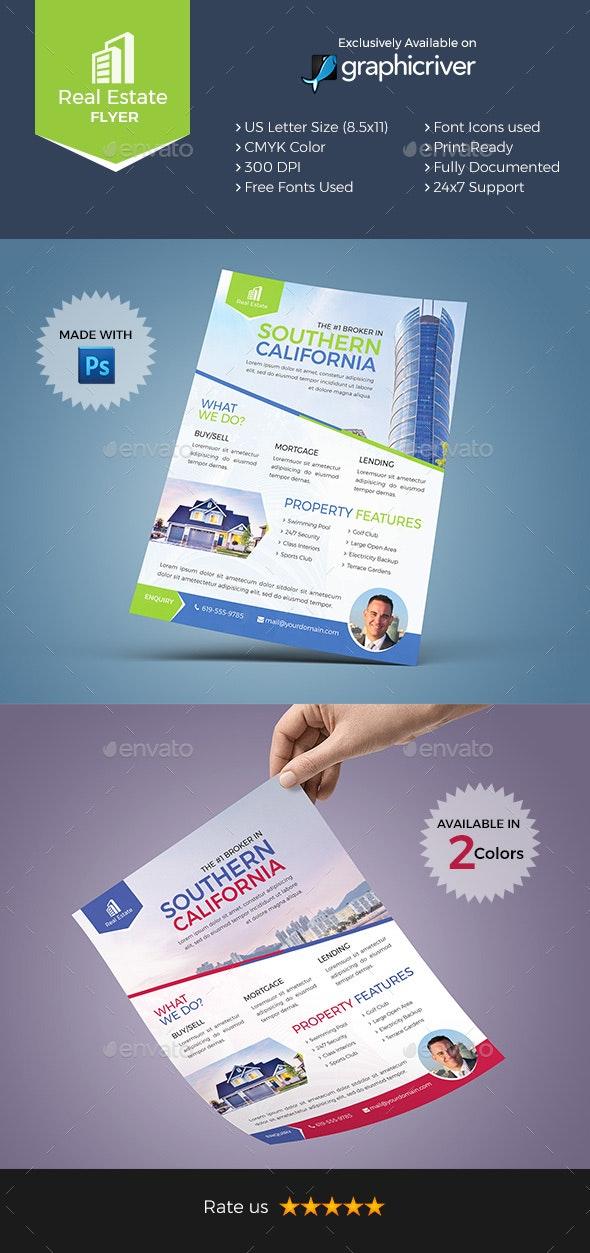 Real Estate Flyer - 2 Color Variations - Flyers Print Templates