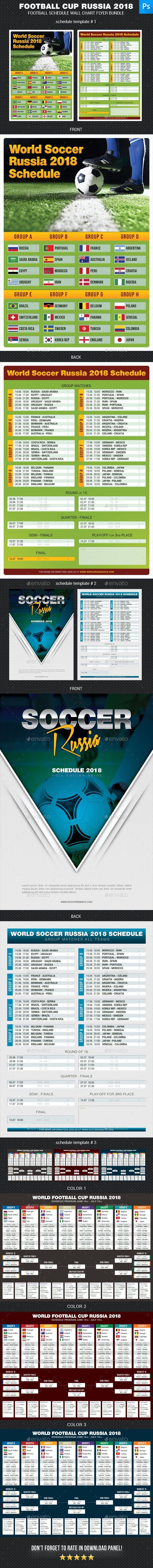 World Soccer Cup Russia 2018 Schedule Bundle 2 - Sports Events