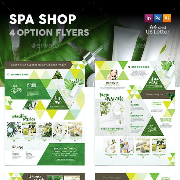 Spa Shop Flyers – 4 Options