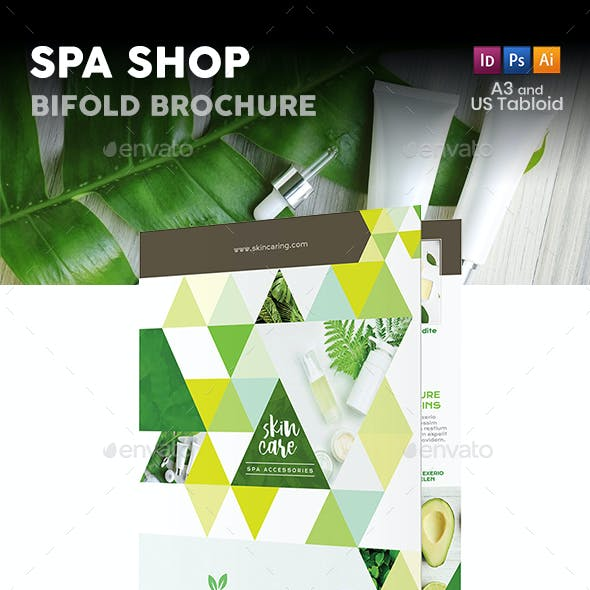 Spa Shop Bifold / Halffold Brochure