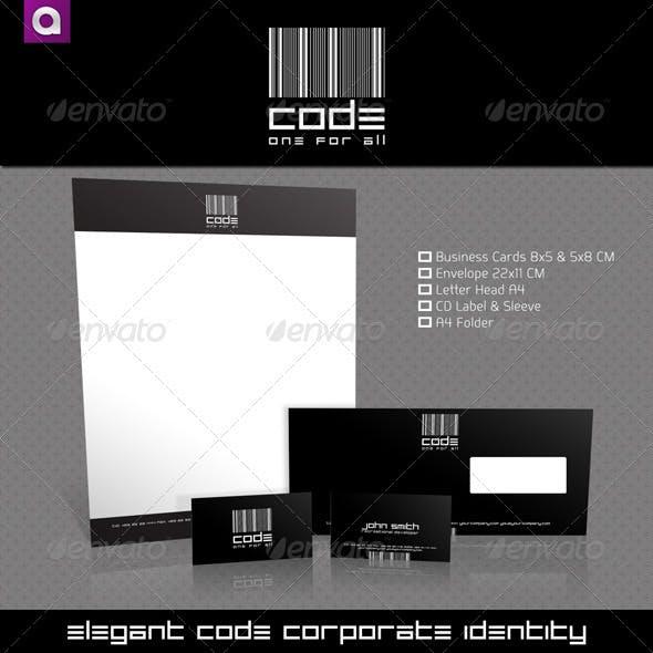 CODE Elegant Black & White Corporate Identity