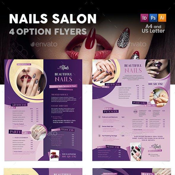 Nails Salon Flyers – 4 Options