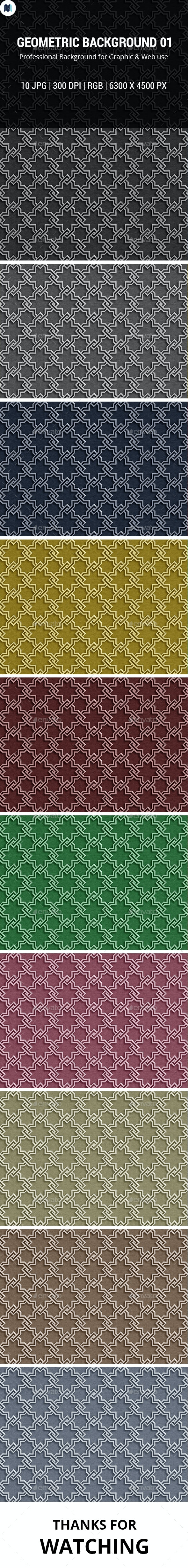 Geometric Background 01 - Patterns Backgrounds