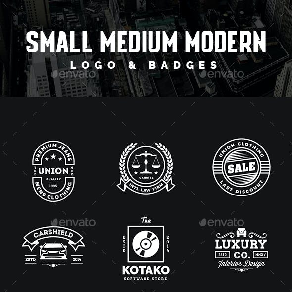 40 Small Medium Business Modern Vintage Logo and Badges