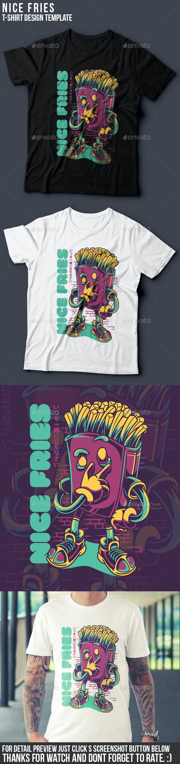 Nice Fries T-Shirt Design - Business T-Shirts