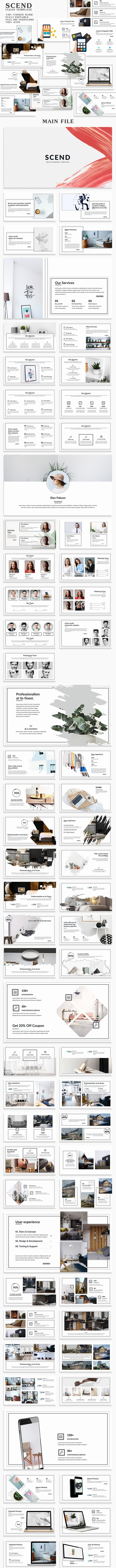 Scend Clean PowerPoint Template - Creative PowerPoint Templates