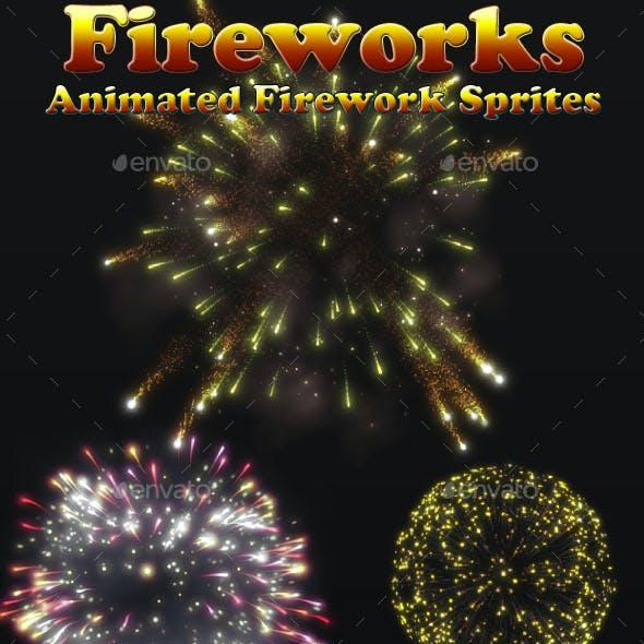 Fireworks Effect Sprites