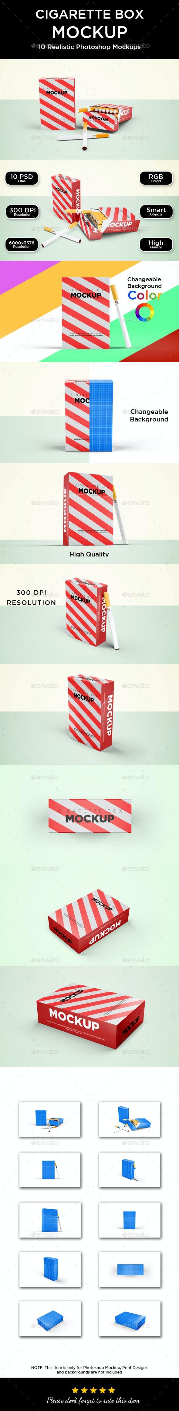 Cigarette Box Mockup - Packaging Product Mock-Ups
