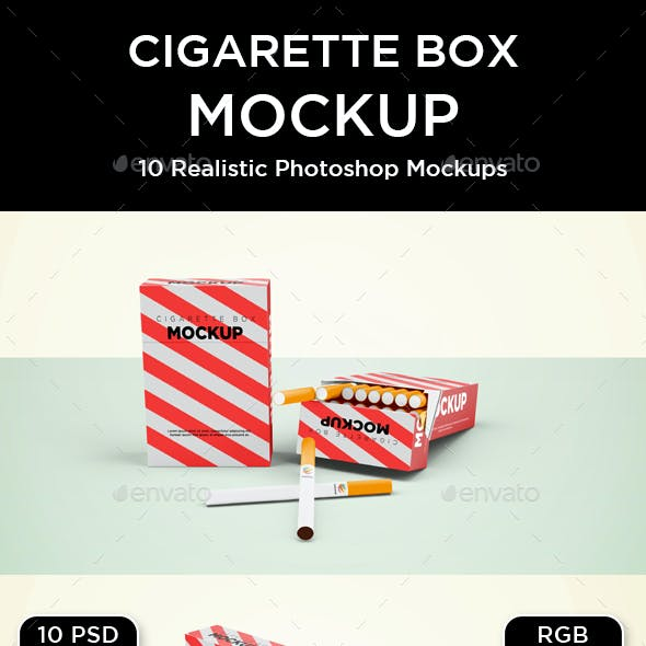 Cigarette Box Mockup