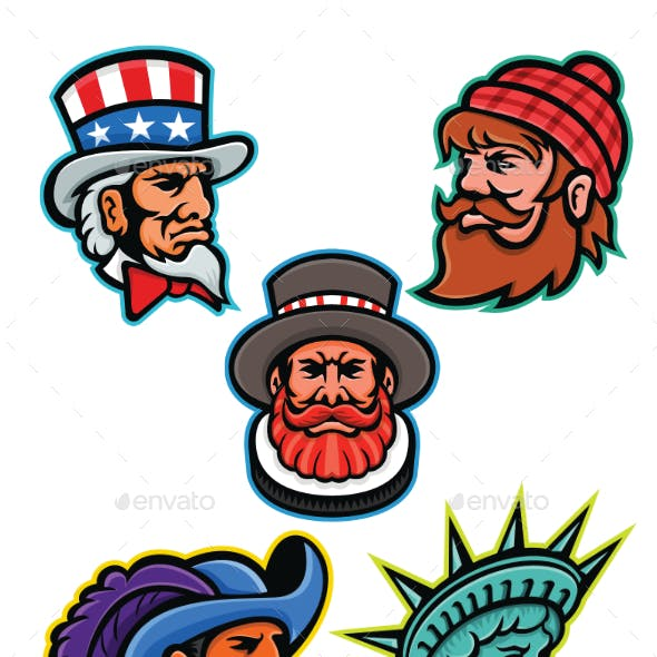 American and British Mascots Collection