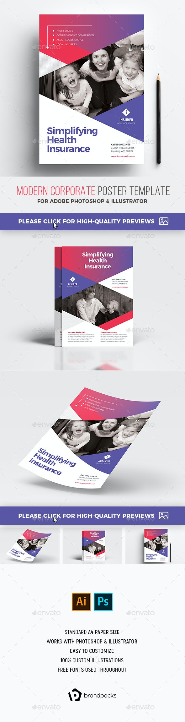 Modern Corporate Poster Templates - Corporate Flyers
