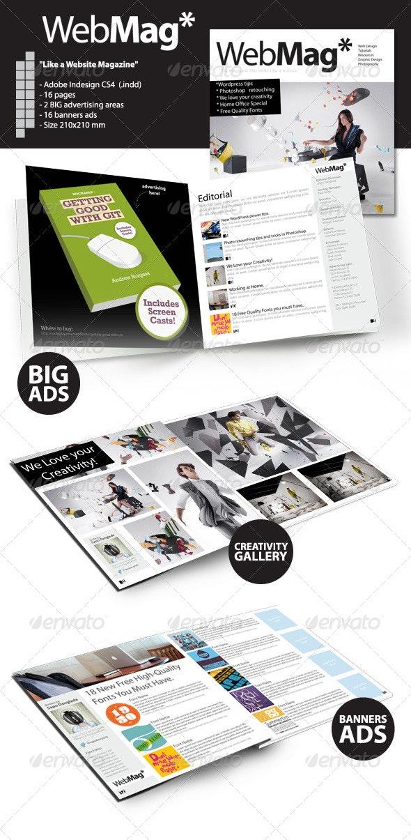 WebMag - InDesign Magazine Template - Magazines Print Templates