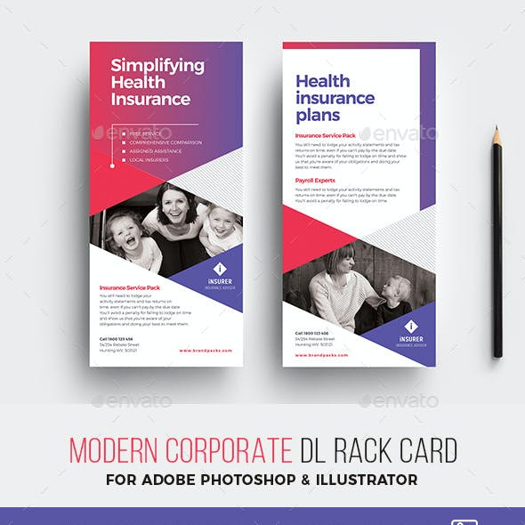 Modern Corporate DL Rack Card Template