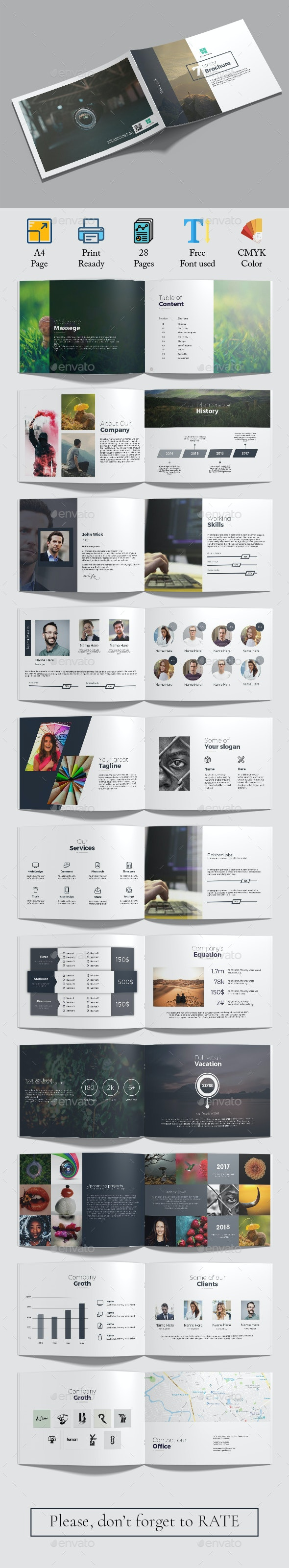 Unity A4 Landscape Brochure - Corporate Brochures