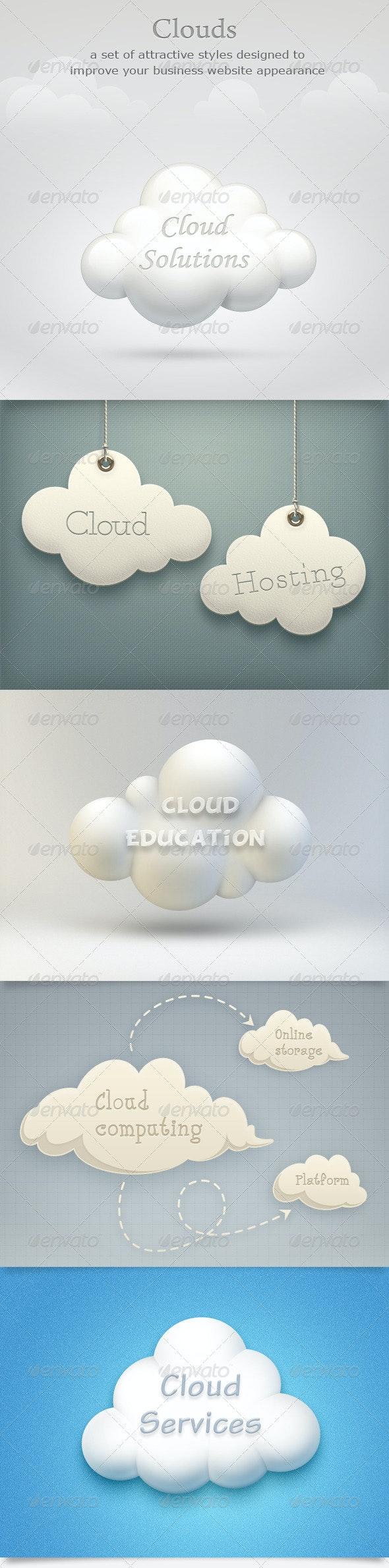 Clouds Set - Business Illustrations