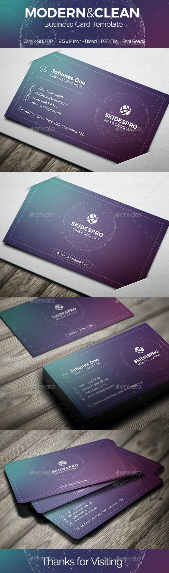 Modern & Clean - Creative Business Cards
