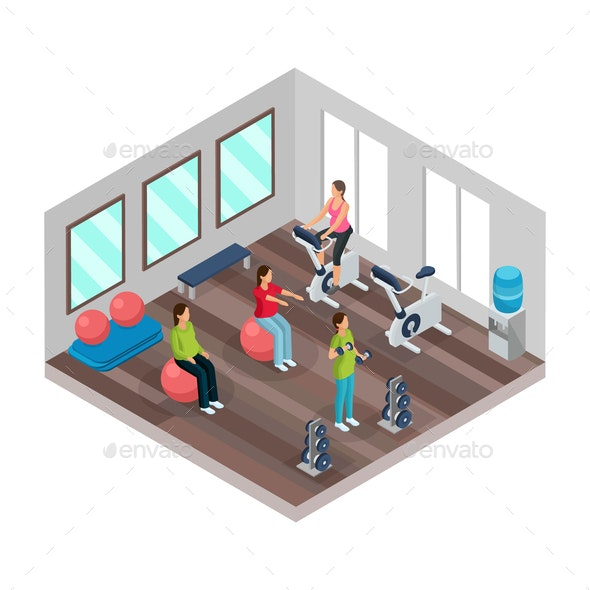 Isometric Pregnancy and Fitness Concept - Health/Medicine Conceptual